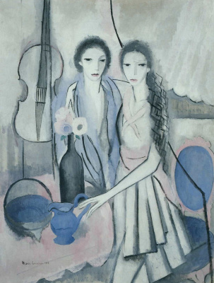 Marie Lorenzen. Two sisters with a cello
