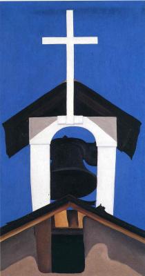 Джорджия О'Киф. Колокольня и церковь. Нью-Мексико