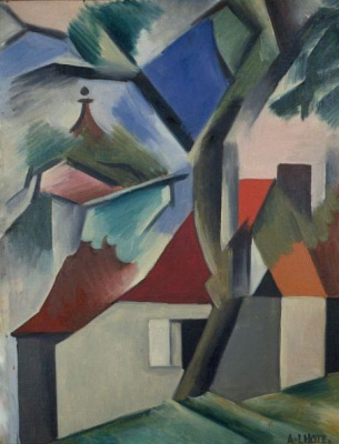 André Lot. Landscape with houses