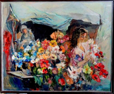 Anna Sukiasyan. The merchant of flowers