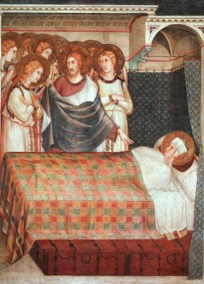 Simone Martini. The Dream Of St. Martin