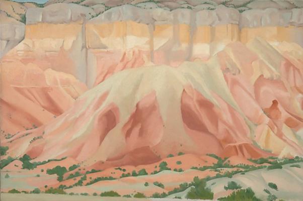 Georgia O'Keeffe. Red and yellow rocks