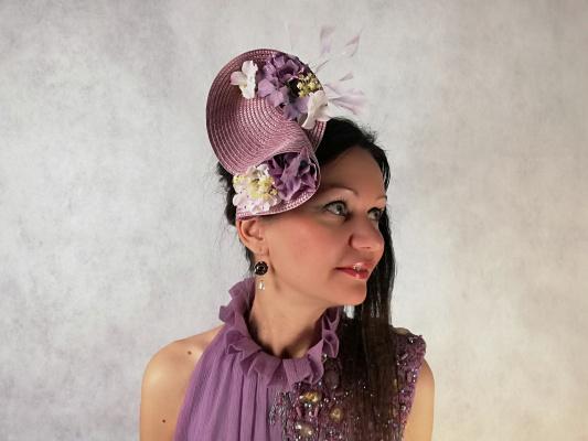 """Natalia Vladimirovna Solntseva. Hat """"Violet tenderness"""""""