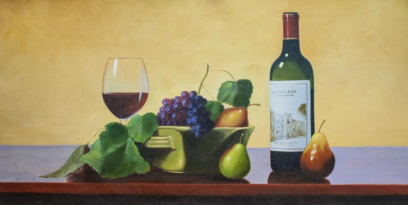 Savely Kamsky. Fruits and Californian wine Chateau Montelena