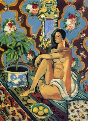 Анри Матисс. Фигура на фоне орнамента