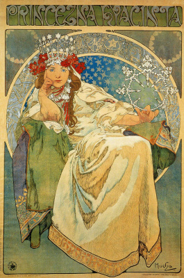 """Alphonse Mucha. The poster for the ballet-pantomime """"Princess Hyacinth"""""""
