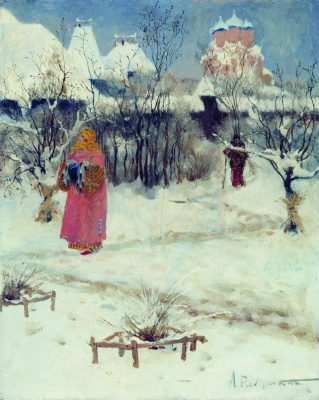 Andrei Petrovich Ryabushkin. Walk haws. 1893