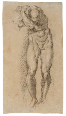 Jacopo Tintoretto. Study of a Male Nude