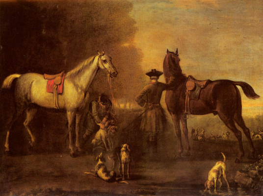 John Wootton. Before hunting