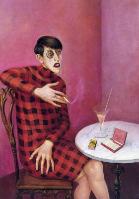 Otto Dix. Portrait of journalist Sylvia von Harden