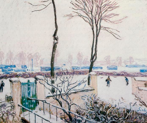 Alfred Sisley. The approach to the railway station