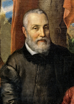 Sofonisba Anguissola. Portrait of the family of the artist. Fragment. Father Amilcar