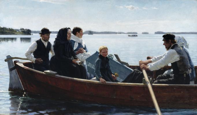 Альберт Густав Аристид Эдельфельт. Похороны ребенка. 1879