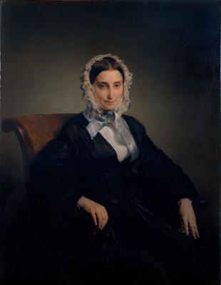 Francesco Ayets. Portrait of Theresa Borri Stampa Manzoni