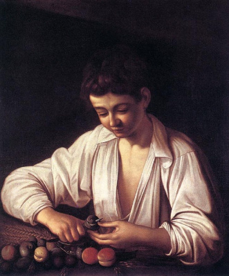 Michelangelo Merisi de Caravaggio. Boy, cleaning fruit
