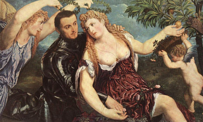 Paris Bordon. Allegory with lovers