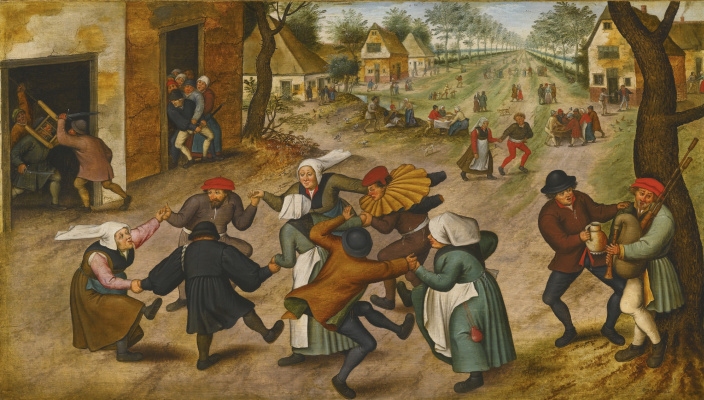 Peter Brueghel The Younger. Peasant dance in the village street