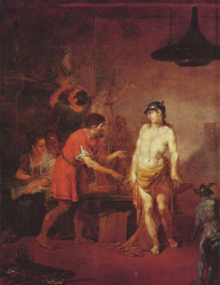 Januarius Cyc. Mercury in the workshop of the sculptor
