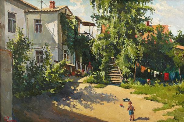 Yuri Ivanovich Roman. The patio at the Museum