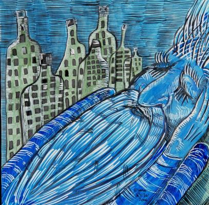 Elena Rein. Blue.Drunker