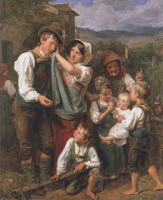 Ferdinand Georg Waldmüller. The return of farmer