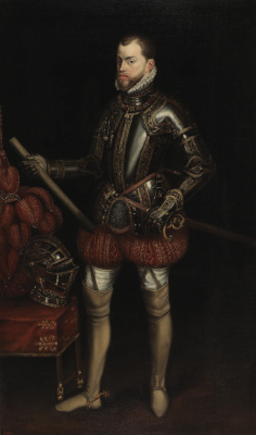 Unknown artist. Portrait of Philip II of Spain in armor