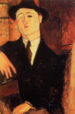 Amedeo Modigliani. Portrait Of Paul Guillaume