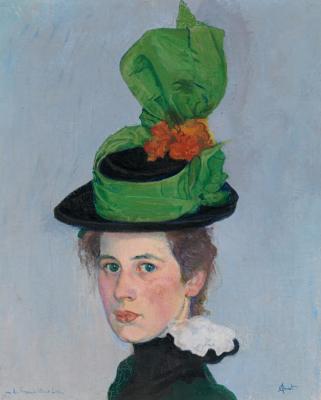 Куно Амье. Зеленая шляпа. Портрет Анны Амье