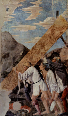 Piero della Francesca. Transfer of the Sacred Tree