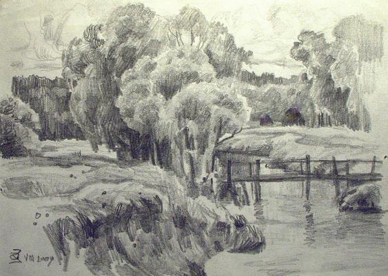 Oleg Borisovich Zakharov. Sketch motif.