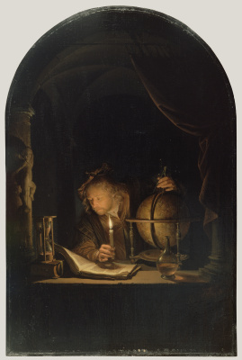 Gerrit (Gerard) Dow. The astronomer by candlelight