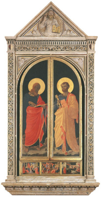 Fra Beato Angelico. Linayol tabernacle Saints Mark and Peter. 1433