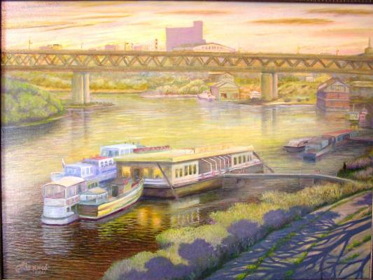 "Александр Федорович Важнев. ""View of the Metromost. N. Novgorod."""