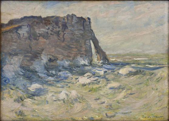 Claude Monet. Port d'Aval in a storm