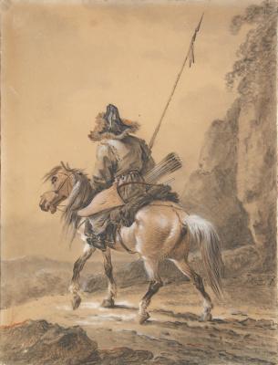 Alexander Osipovich Orel. Kirghiz on a horse.