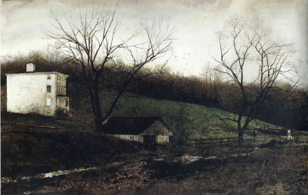 Andrew Wyeth. Night of Staking