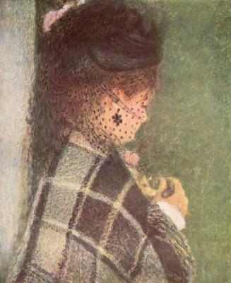 Пьер Огюст Ренуар. Молодая женщина с вуалью