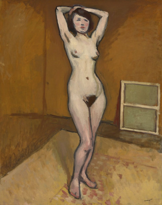 Albert Marquet. Nude model with arms raised