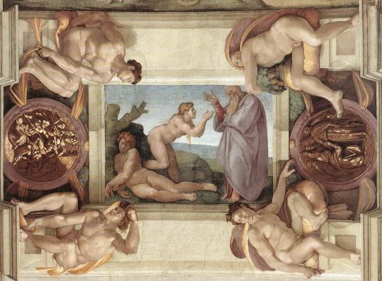Michelangelo Buonarroti. The Creation Of Eve