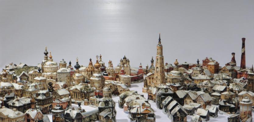 "Andrey Borisovich Cherkasov. Plot from the collection ""City. Winter"""