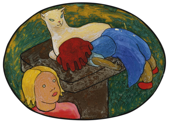 Gabriele Münter. Doll, cat and child