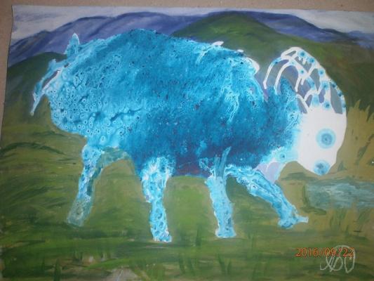 Marianna Dmitrievna Soltuk. Goat Painting bottling