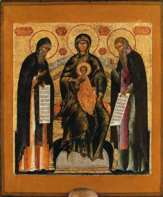 XVII Русский  иконописец  века. Печерская Богородица