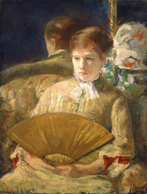 Mary Cassatt. Woman with a fan