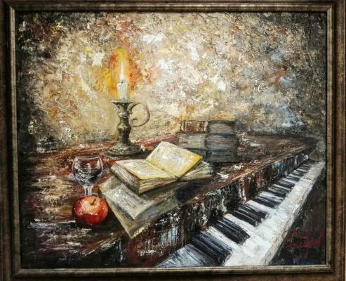 Алина Евгеньевна Шварёва (Галкина). Old piano