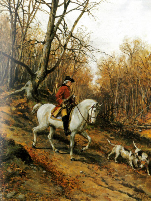 """Peter Nikolay Arbo. """"Hunting in the 18th century"""""""