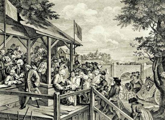 William Hogarth. The vote