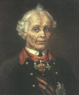 Vasily Ivanovich Surikov. Portrait of Generalissimo Alexander Suvorov