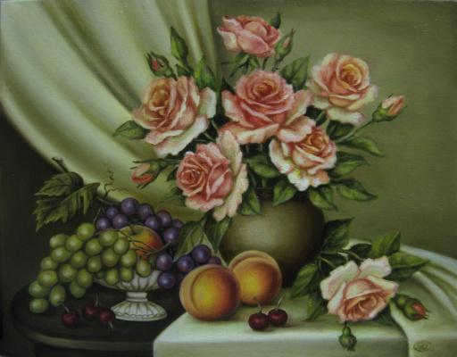 Розовое настроение(холст,масло)-художник Ядвига Сенько