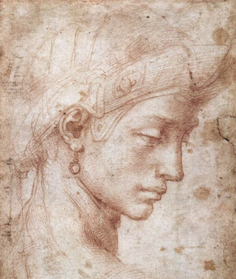 Michelangelo Buonarroti. Perfect face